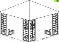 Drewniana altana ogrodowa 300 x 300 (cm)