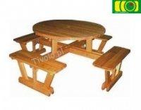 Stół drewniany do ogrodu Oxford  6-8 osób