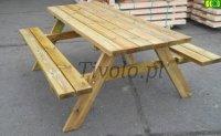 Stół drewniany  do ogrodu dl. 200 cm  -   8  osób