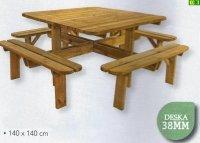 Stół drewniany do ogrodu 8 set R 6-8 osób