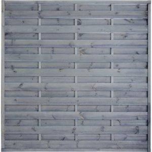 L04 płot lamelowy prosty szary (180x180)