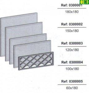 KR12 kratka ogrodowa w ramie prosta (150x180)