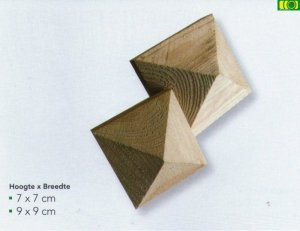 Drewniany daszek stożek 7x7
