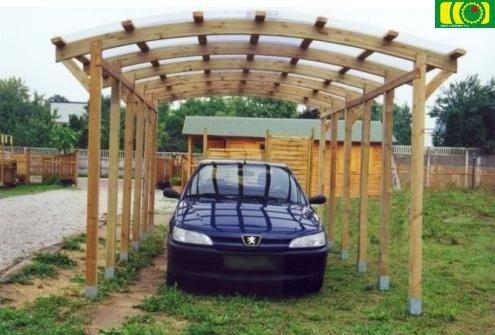 W02 zadaszenie drewniane /1 auto