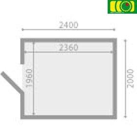 DM9 drewniany domek ogrodowy IRYS (240/200)