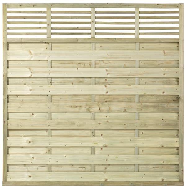 L01 drewnainy płot lamelowy prosty LINE (180x180)