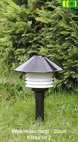 Lampa ogrodowa 35cm z kloszem