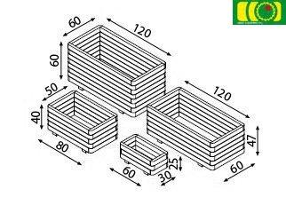 O03 donica 5-warstw (50x80)