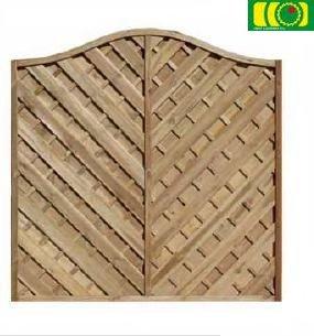 L17 płot diagonalny z falą (180x180)