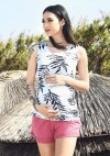MijaCulture - spodenki ciążowe Lola M004 róż