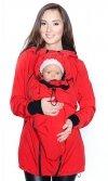 MijaCulture - kurtka softshell 3D ciążowa i do noszenia dziecka M55/4068 czerwony