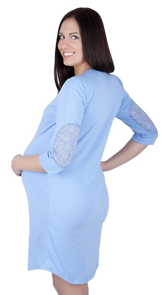 MijaCulture - 2 w 1 koszula nocna i do karmienia 4016/M31 niebieski