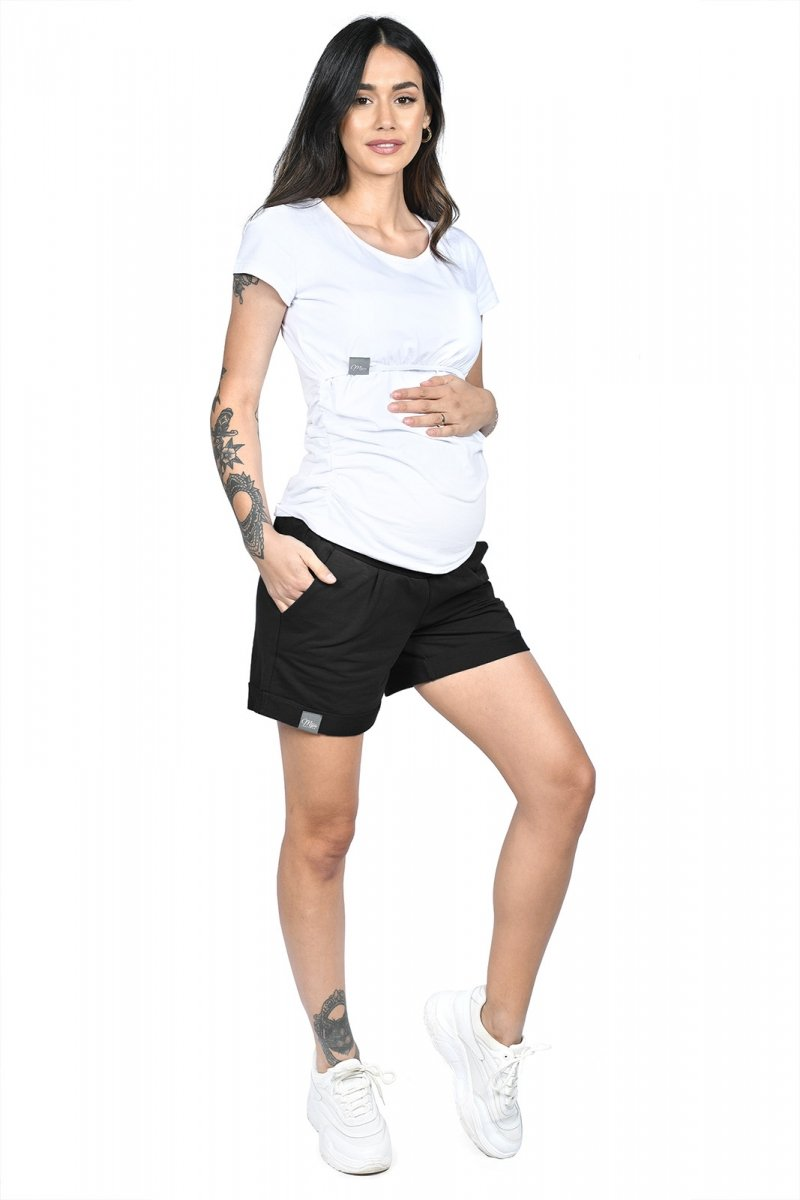 MijaCulture - spodenki ciążowe Lola M004 czarny