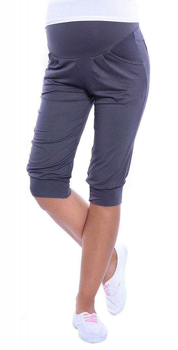 MijaCulture - spodnie rybaczki /alladynki ciążowe 4037/M48 grafit