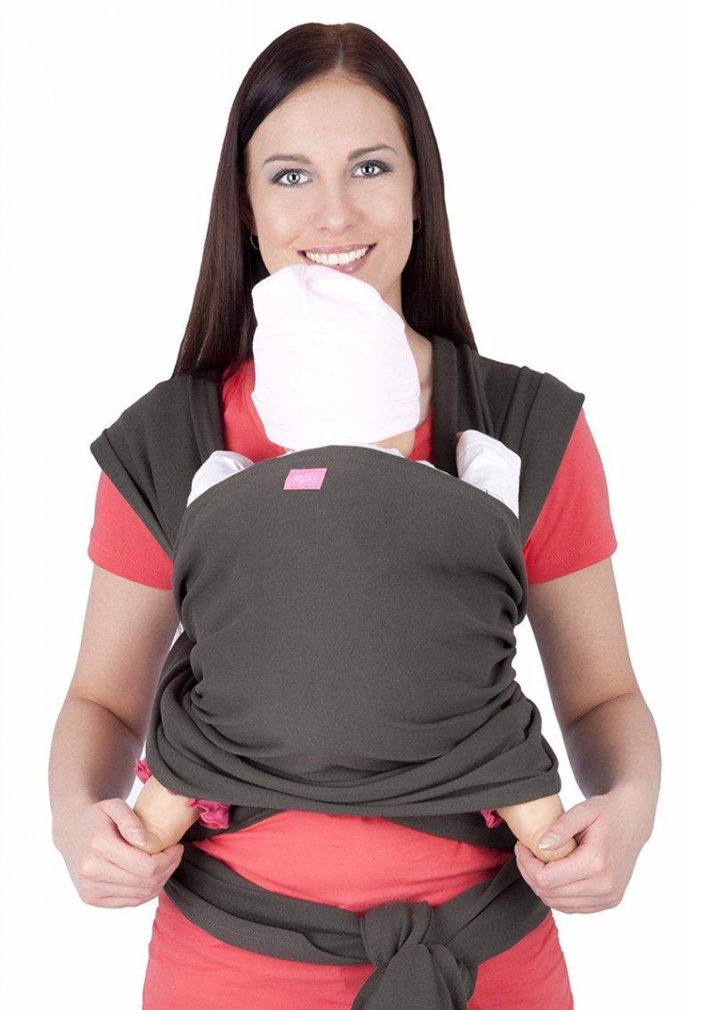 MijaCulture - chusta do noszenia dzieci 4011/M28 khaki