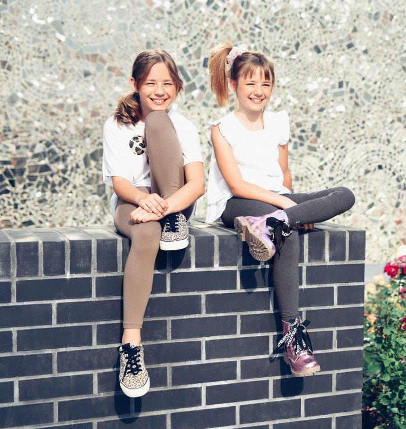 Legginsy dziewczęce getry dla dzieci ciemny ZOE fiolet