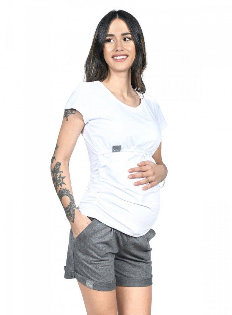 MijaCulture - spodenki ciążowe Lola M004 grafit