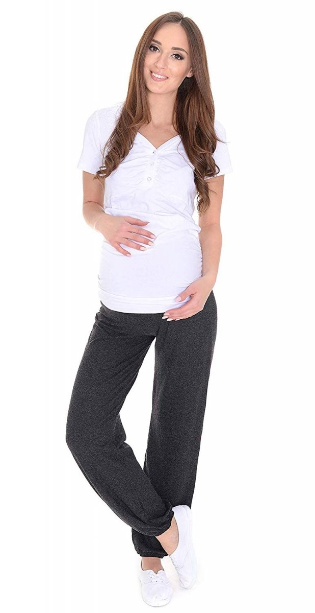 MijaCulture – alladynki ciążowe wiskoza 4069/M58 grafit