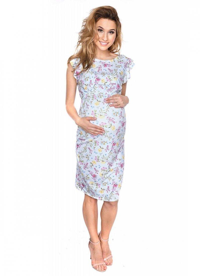 """MijaCulture - zjawiskowa sukienka 2 w 1 ciążowa i do karmienia """"Lia"""" kwiaty"""