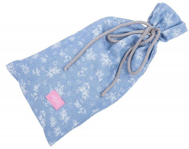 MijaCulture - chusta, peleryna do karmienia piersią + etui 4010/M34 niebieski 1