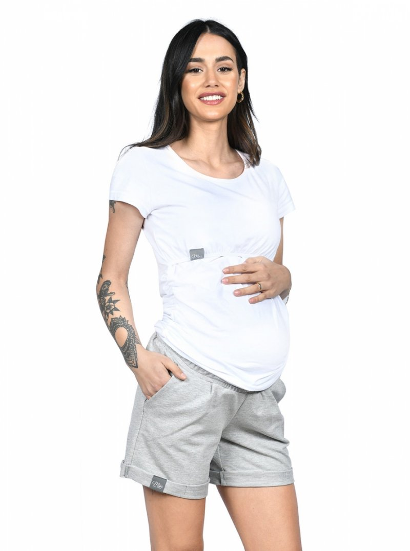 MijaCulture - spodenki ciążowe Lola M004 melanż