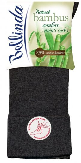 1 Men Socks Bambus BE497520 comfort skarpety bezuciskowe