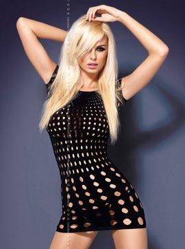 Rocker short sukienka kolor czarny