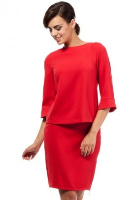 MOE191 spódnica czerwona
