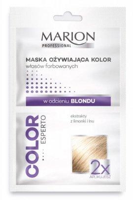 Marion Color Esperto Maska odżywiająca do włosów w odcieniu blond 2x20ml