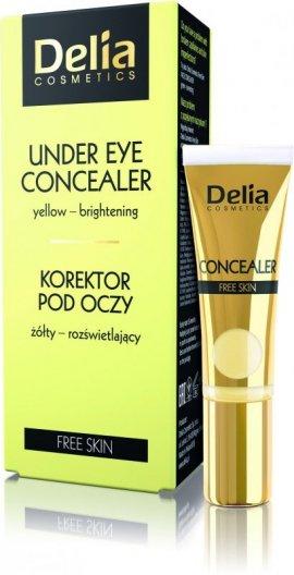Delia Cosmetics Free Skin Korektor żółty rozświetlający pod oczy 10ml