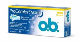 O.B.ProComfort Night Normal  komfortowe tampony 16szt x 6(5+1gr)