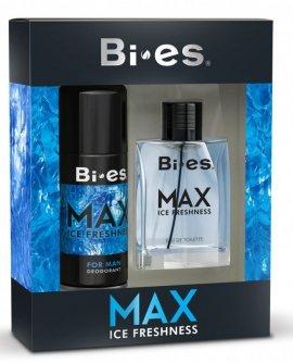 Bi-es Max Ice Freshness for men Zestaw prezentowy (dezodorant spray 150ml+woda toaletowa 100ml)