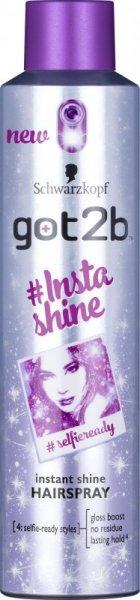 Schwarzkopf Got2b #Insta Shine Lakier do włosów nabłyszczający 300ml