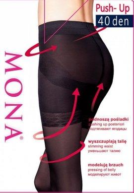 Rajstopy Mona Elianto push-up 40 den 5-XL