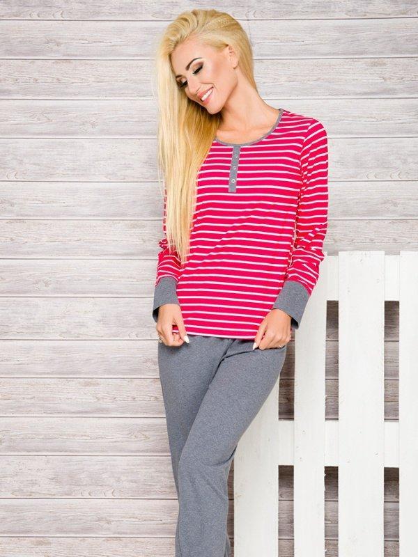 Piżama Lisa 2120 AW/17 K1 Różowe paski