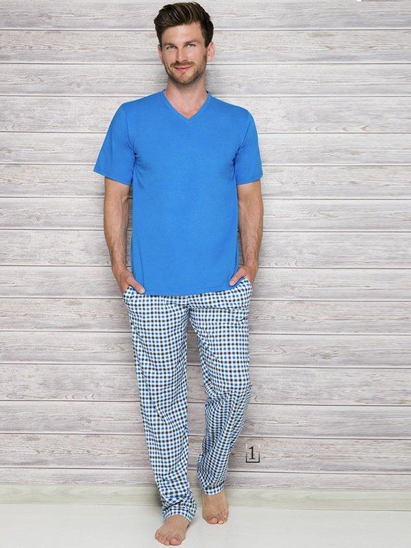 Piżama Adam 2131 AW/17 K1 Niebieska