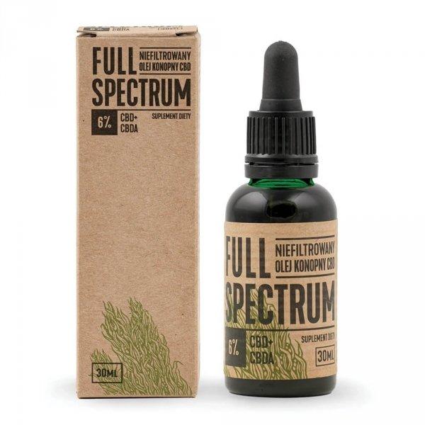 FULL SPECTRUM NIEFILTROWANY OLEJEK KONOPNY 6% CBD+CBDA 30ML