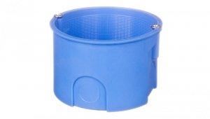 Puszka podtynkowa 40mm głębokości z wkrętami niebieska Z60Kw 34049203