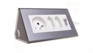 Przedłużacz biurkowy z wyłącznikiem 2x2,5A 1x16A OR-AE-1327