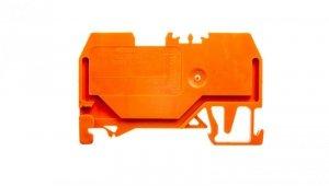 Złączka szynowa 2-przewodowa 1,5mm2 pomarańczowa 279-902