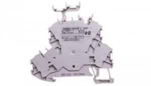 Złączka szynowa 2-piętrowa L/L 2,5mm2 szara 2002-2231 TOPJOBS