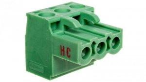 Wtyk śrubowy do płytek drukowanych 3P zielony MSTBT 2,5 HC/ 3-ST 1926248 /50szt./