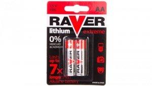 Bateria litowa LR6 / AA 1,5V RAVER EXTREME B7821 /blister 2szt./