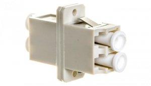 Adapter LC/LC duplex MM OM2, ceramiczna ferrula, szary DN-96008-1