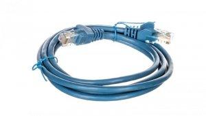 Kabel krosowy patchcord U/UTP kat.5e CCA niebieski 1,5m 95554