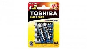 Bateria alkaliczna LR6 / AA 1,5V HIGH POWER LR6GCNP BP6 2F /blister 4+2szt./