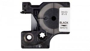 Taśma poliestrowa trwała do drukarek 9mm x 5,5m czarna na białym S0718240 18482