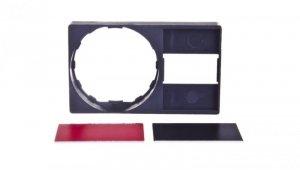 Szyld opisowy 30x50mm z etykietą czarny/czerwony 22mm czarny prostokątny ZBY6H101