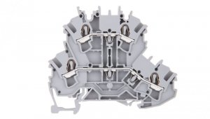 Złączka szynowa 2-piętrowa 2,5mm2 szara L/L 2002-2201 TOPJOBS