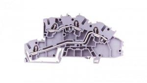 Złączka szynowa 2-piętrowa 2,5mm2 L/L szara 2003-7642 TOPJOBS